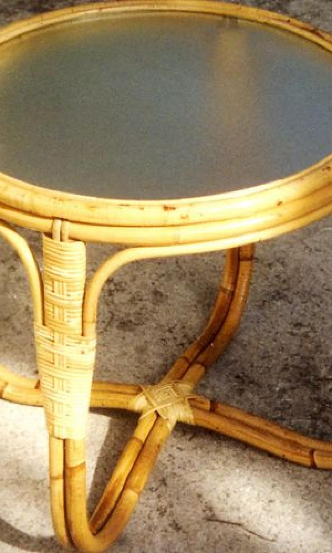 Tables basses en rotin